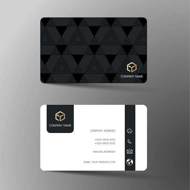 Realistic detailed business card design.