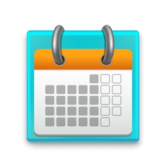 Realistic detailed calendar month stationery or reminder can be used for business