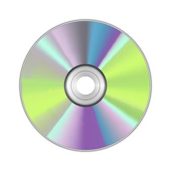 Реалистичные подробные технологии передачи данных на круглых компакт-дисках для музыки, информации и программного обеспечения. векторная иллюстрация