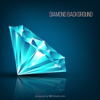 Realistic diamond background with shiny shapes