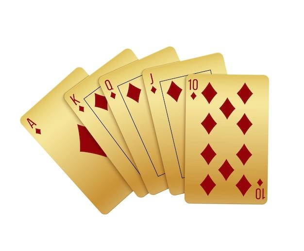 Реалистичные игральные карты с бриллиантами