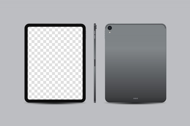 Realistic digital tablet inch with blank screen