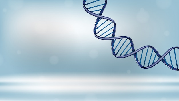 Realistic dna spiral background