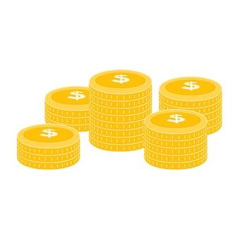 Realistic dollar coin