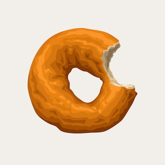 Realistic donut isolated on white