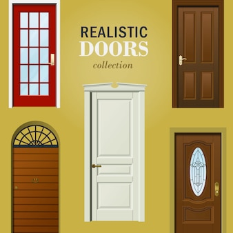 Realistic doors collection