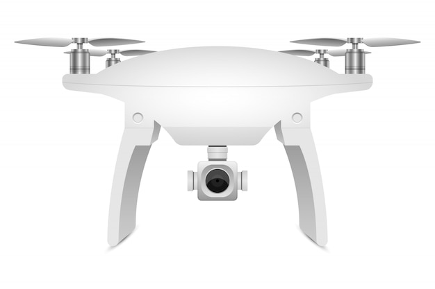 Realistic drone   illustration  on white background