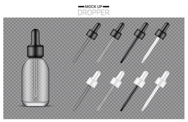 Realistic dropper bottle set
