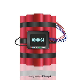 Realistic dynamite with clock