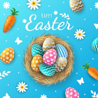 Realistic easter background