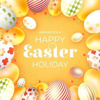 現実的なイースターの日の休日の卵