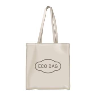 Realistic eco bag isolated