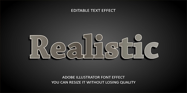 Realistic editable text effect