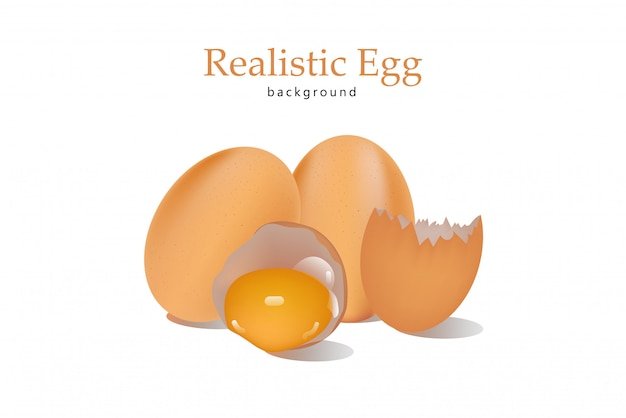 Realistic egg background