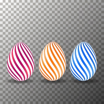 Realistic eggs on the transparent background vector.