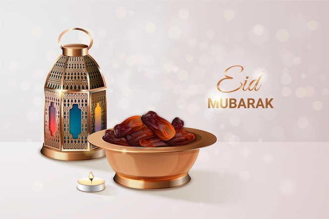 Realistic eid al-fitr illustration