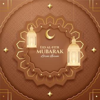 Realistic eid al-fitr illustration