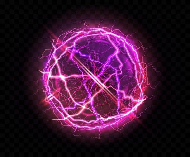 Realistic electric ball or abstract plasma sphere