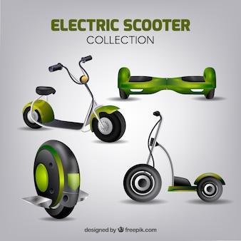 Реалистичная коллекция электрических скутеров