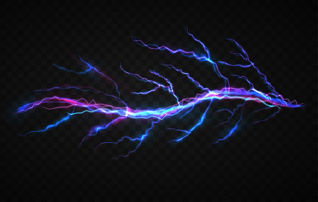 Realistic electricity visual effect design template