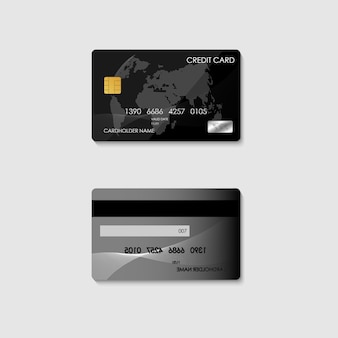 Realistic electronic banking credit card for financial bank