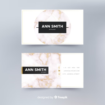 Realistic elegant business card template