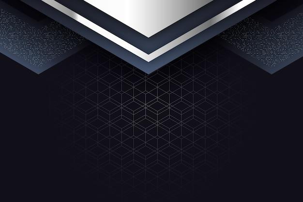 Salvaschermo realistico di forme geometriche eleganti