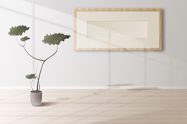 Realistic empty room with sun light