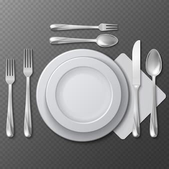 Реалистичная пустая круглая тарелка