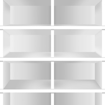 Realistic  empty shelves for decoration.
