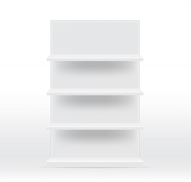 Realistic empty shelves for interior to show product