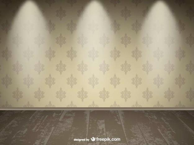 Realistic empty wall spotlight design