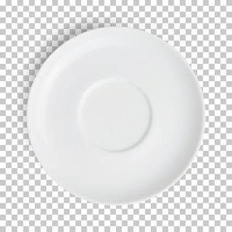 Реалистичная пустая белая тарелка изолирована