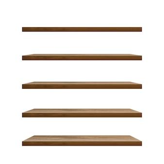 Реалистичная пустая деревянная полка