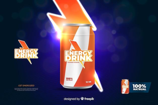 Realistic energy drink advertisement