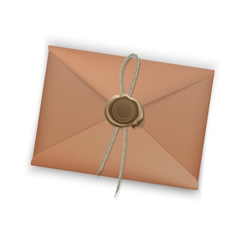Realistic envelope closed envelope isolated  .