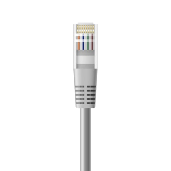 Realistic ethernet cable for local internet network connection.