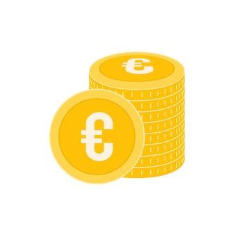 Реалистичная монета евро