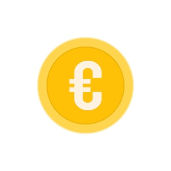 Realistic euro coin