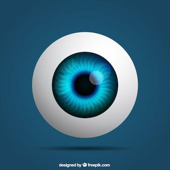 Реалистичная глаз Premium векторы
