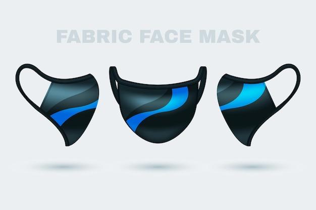 Realistic fabric face mask