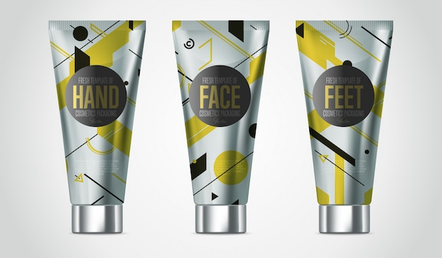 Realistic face or body care cosmetic product set