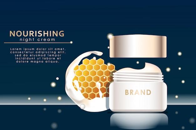 Realistic facial cream ad