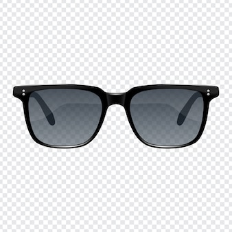 Realistic fashion sun glasses for men with transparent background