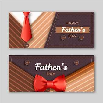 Modello realistico delle insegne di festa del papà