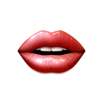 Realistic female lips