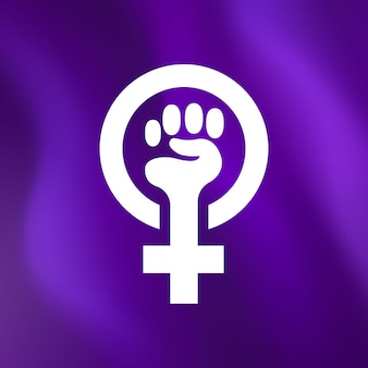 Realistic feminist flag illustration