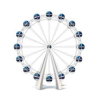 Realistic ferris wheel london eye carousel