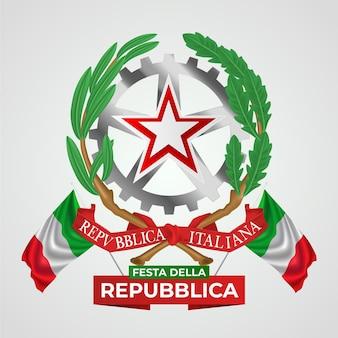 Illustrazione realistica di festa della repubblica