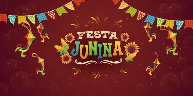 Realistic festa junina background